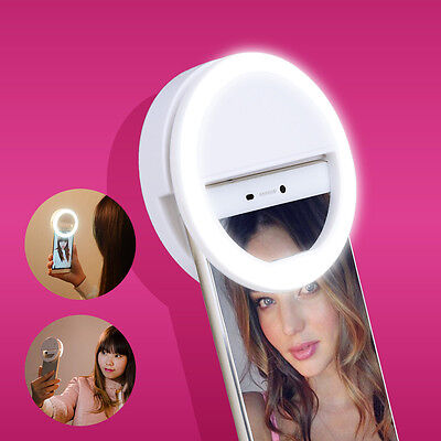 Portable Selfie Flash LED Phone Camera Ring Light For Apple Iphone Samsung New
