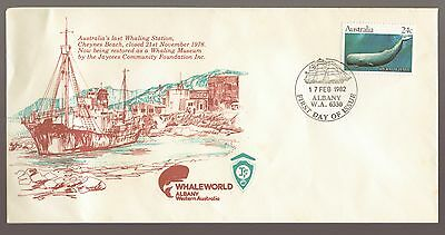 1982 Australias Last WHALING Station Albany WA Whaleworld Museum Cover -
