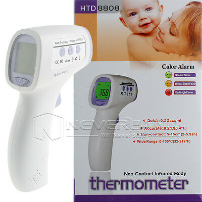 Infrarot Thermometer Digital Baby Fieber Fieberthermometer Ohr Stirn Kinder LCD