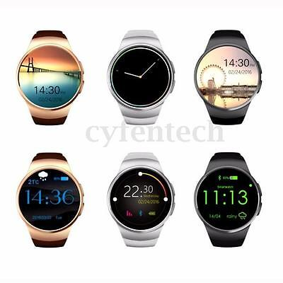 KINGWEAR KW18 MTK2502C Bluetooth 4.0 GSM Smart Watch Montre Pour iOS Android