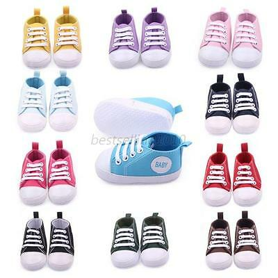 Infant Toddler Sneakers Baby Boy Girl Soft Sole Crib Shoes Prewalker 0-12 Months