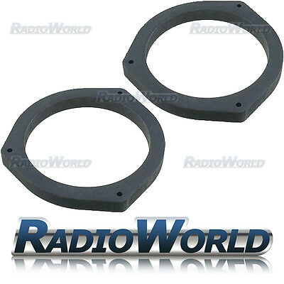 "Subaru Outback Legacy 6.5"" MDF Front Rear Door Speaker Adaptors / Rings Spacers"