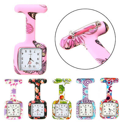 Silicone Montre Infirmière Carré Pince Épingle Broche Attache Poche Tunique Fob