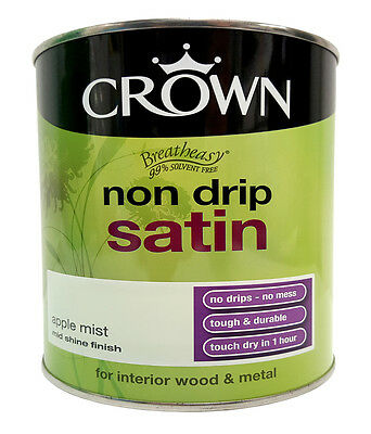 Crown Breatheasy Interior Wood & Metal Non Drip Satin - Apple Mist - 750ml