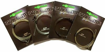 Korda NEW Safe Zone Dark Matter Leader Ring Swivel 1 Meter *All Colours*