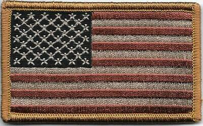 United States US Flag Faded Vintage Look Hook Embroidered Patch