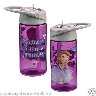 94075  Disneys Sophia The First  14oz Water Sports Tritan Drink Bottle w/Straw