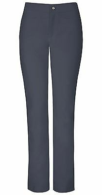 Pewter Sapphire Luxury Roma Low Rise Zip Fly Slim Scrub Pants SA101A PWTS