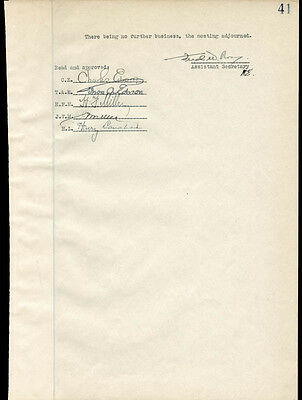 Thomas A. Edison - Document Signed Circa 1925 Co-Signed By: Charles Edison