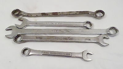 Vintage Lot Assorted Combination Wrenches 15mm 12mm 5/8