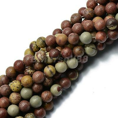 "Nature Grass Flower Gemstone Beads 8mm 15"" Strand FOR Jewelry Findings DIY"