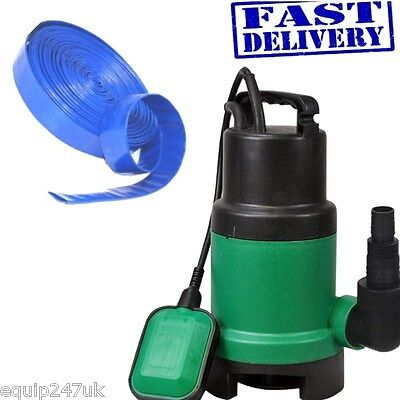 Dirty Water Submersible Pump 400w -10000 Litres Per Hour + 10M X 25MM  LF Hose