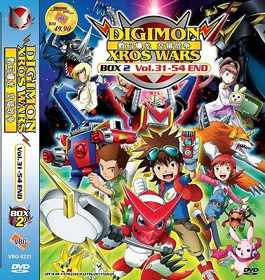 DIGIMON Xros Wars Box 2 | Episodes 31-54 | English Subs | 3 DVDs (VBG0221)-LU