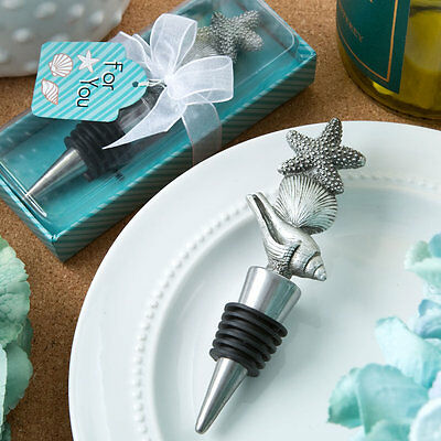 24 Sea / Beach Themed Wine Bottle Stoppers Bridal Shower Wedding Favors