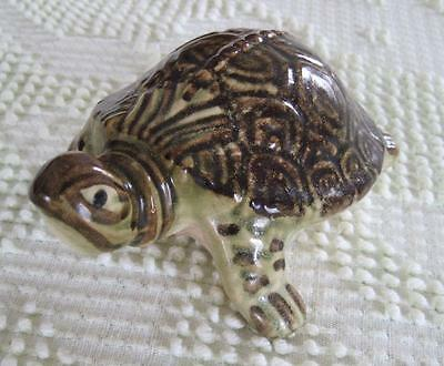 """Brush McCoy Pottery 5"""" Turtle Lawn or Garden Ornament #2"""