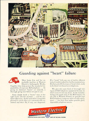1957 Western Electric Heart Failure TelephoneVintage Advertisement Print Ad J487