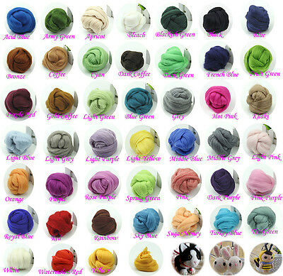 Wool Corriedale DIY Needlefelting Roving knit Dyed Spinning Wet Felting Fiber