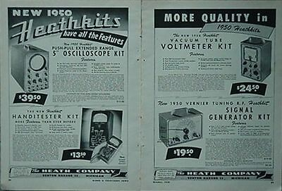 1950 Heathkits 6-Page Ad (The Heath Company, Benton Harbor, Michigan