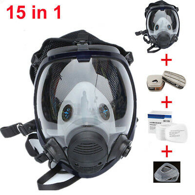 15 in 1 New Gas Mask Full Face Facepiece Respirator Painting Spraying