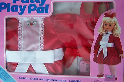 "1987 Ideal Talking  24"" Patty Playpal Pretty Party Dress & A Funtime Party  Nrfb"