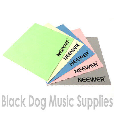 Pack or 5 guitar Microfiber guitar cleaning / polishing cloth also for violin