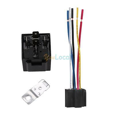 12V 30/40 Amp DC 5Pin Car SPDT Automotive Power Relay with Wires Harness Socket