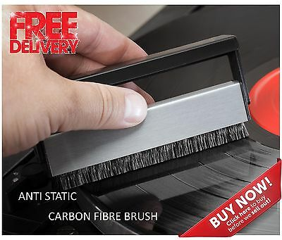 Antistatic Carbon Fibre Cleaner Cleaning Brush for Vinyl Records & pad screen