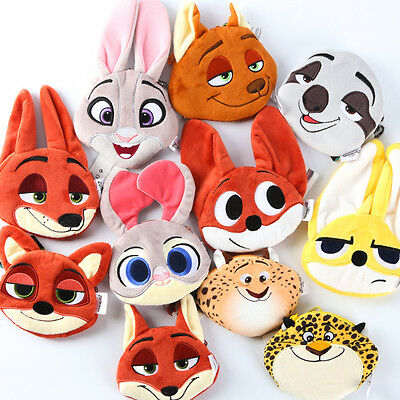 Zootopia Judy Hopps Nick Wilde The Sloth Flash Finnick Plush Coin Wallet Purse