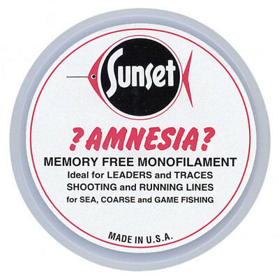 Amnesia NEW Sunset Clear Memory Free Monofilament Fishing Hooklink Line