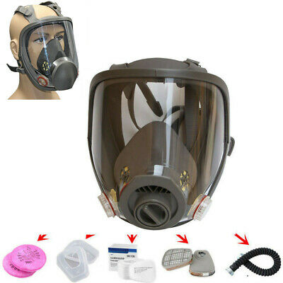 Hot Update Gas Dust Mask Full Face Facepiece Respirator Painting Spraying Set