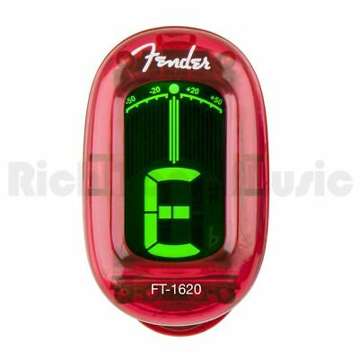 Fender California Series Clip-On Tuner - Candy Apple Red
