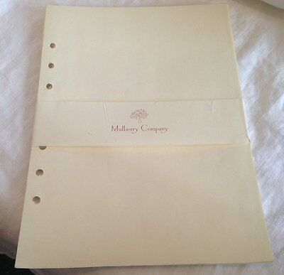 Genuine Mulberry paper stationery A5 New but vintage - Choose colour