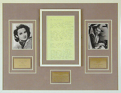Howard Hughes - Autograph Note Signed Co-Signed By: Jean Peters