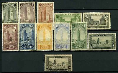 16-05-00381 - Morocco 1917 Yv.  63-66,68-70.. MH 100% Monuments **/*