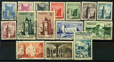 16-05-00404 - Morocco 1947 Yv.  346-350,352-361 US 100% Monuments 15 val.