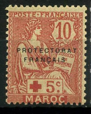 16-05-00409 - Morocco 1915 Yv.  60 MNH 40% stain Croix-Rouge Red Cross