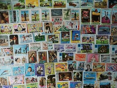 500 Different Liberia Stamp Collection