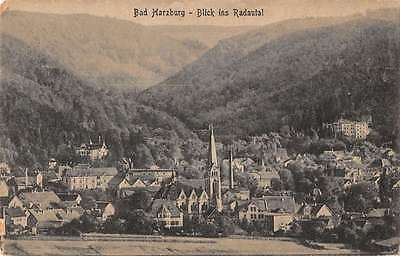 Bad Harzburg Germany Scenic Birdseye View Of City Antique Postcard K16909