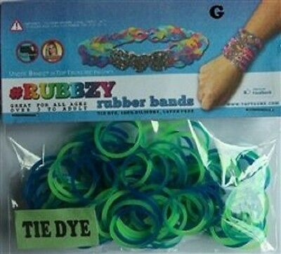 Tie Dye Rubbzy Loose Rubber Bands 100ct - Blue/Green