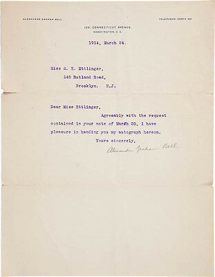 Alexander Graham Bell - Typed Letter Signed 03/24/1914