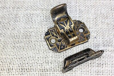 Window latch sash lift combination lock 1900's old vintage cast iron decorated
