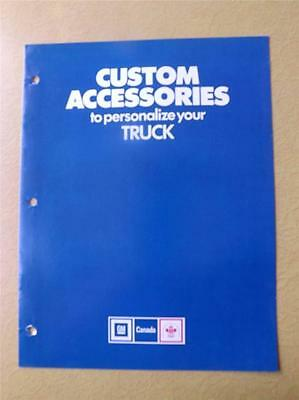 Gm Canada Custom Accessories Personalize Your Truck Brochure 1978 General Motors