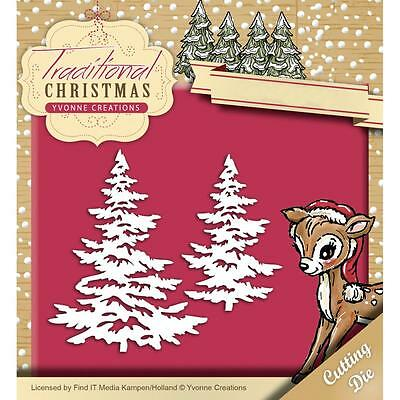 Find It Trading Yvonne Creations Traditional Christmas Die Snowy Tree YCD10053