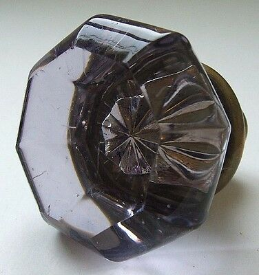 NICE early SUN COLORED PURPLE glass door knob FUNCTIONAL and EXCELLENT