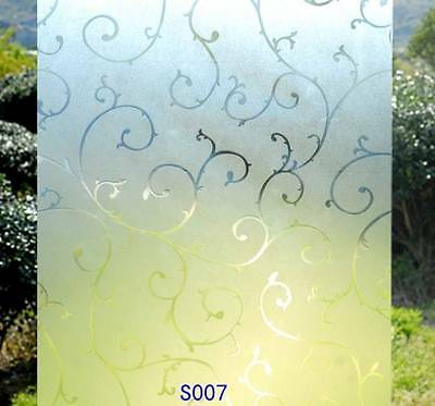 90cm x3m Static Glueless Reusable Removable Frosted Window Glass Film S007