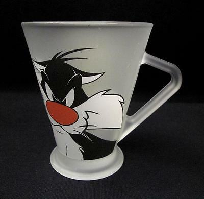 Monkeys Of Melbourne Sylvester The Cat & Tweety Bird Handled Frosted Glass Mug
