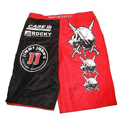 Wwe Ufc The Beast Brock Lesnar Hand Signed Autographed Ring Shorts With Coa Rare