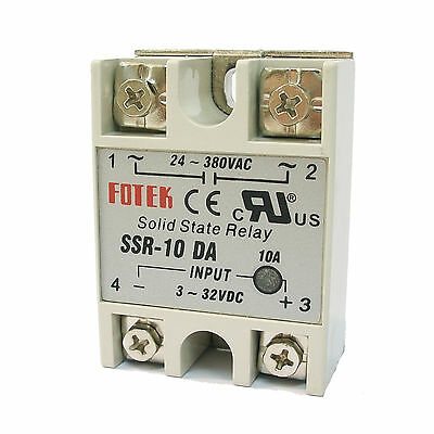 5 x PID Temperature Controller SSR-10DA Solid State Relay 10A Output 24-380V