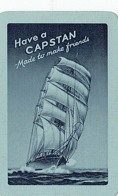 """Cigarette tobacco advertising W D & H O Wills """"have a CAPSTAN"""" playing swap card"""
