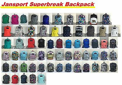 JanSport Superbreak All Colors Backpack School Bag Book Bags 100% authentic